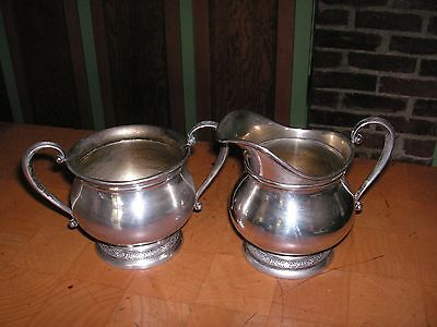 "International STERLING Silver ""PRELUDE""  Creamer and Sugar - C147"