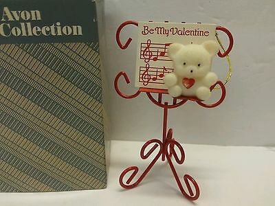 Valentine Teddy Bear Collection Teddy On Music Stand Avon Gift Rabbit Ornament