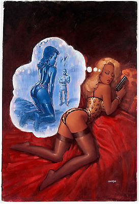 Joe Chiodo CODENAME KNOCKOUT 4 COVER BEST CHIODO PAINTED PINUP COVER ON MARKET