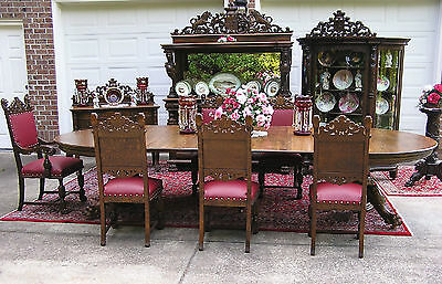 Beautiful R. J. Horner Oak Dining Room Set