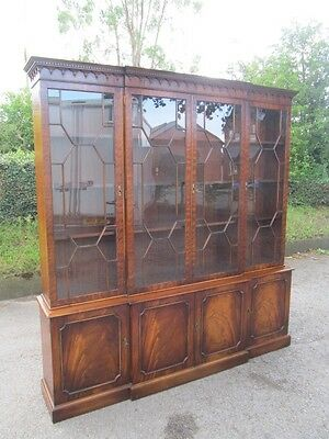 Bevan Funnell large breakfront mahogany library bookcase