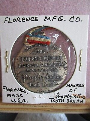 Antique Medal By The Florence MFG.Co.,Florence, Mass. Prophylactic Toothbrush