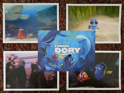 Exlcusive Disney Store PIXAR FINDING DORY LITHOGRAPH SET Of 4 NEMO NEW. Limited!