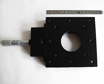 "Parker Daedal 4451 Linear Positioner 1"" Micrometer 5"" x 5"" table w/ 2"" Aperture"