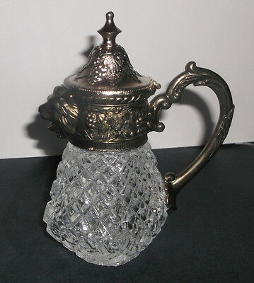 Vintage Leonard Creamer/Syrup Dispenser with Silverplated Lion Head Spout