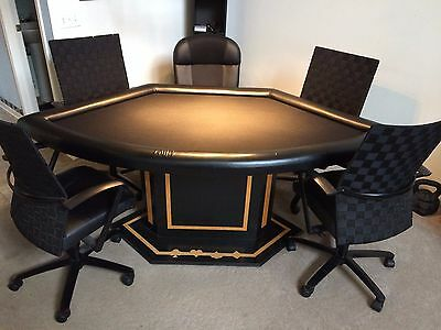 Poker Table w/ 5 Chairs