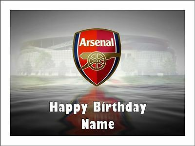 ARSENAL FC SOCCER A4 Edible Icing Birthday Cake Party Decoration Topper
