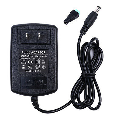 12V 2A 24W AC/DC Adapter Charger Power Supply for CCTV DVR Camera/ LED light