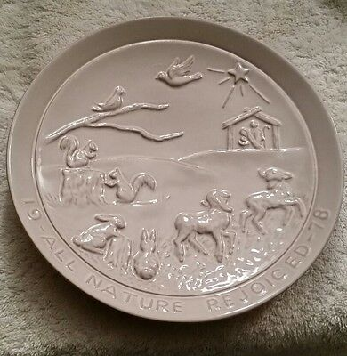 Frankoma Pottery 1978 All Nature Rejoiced Christmas Plate