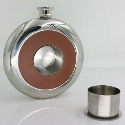 5 OZ New Stainless Steel Hip Flask With Wine Glass Flagon Whisky Alcohol Bottle