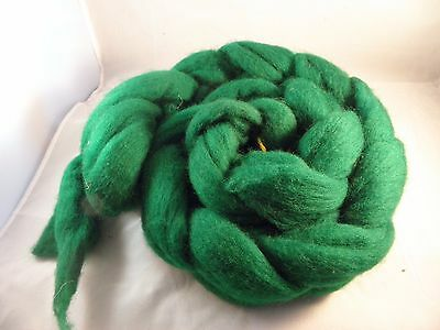 Hand Dyed Roving   Emerald Green  100g
