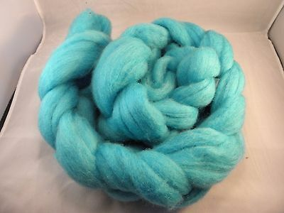 Hand Dyed Roving   True Turquoise  100g