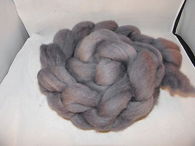Hand Dyed Roving   Silver grey  100g