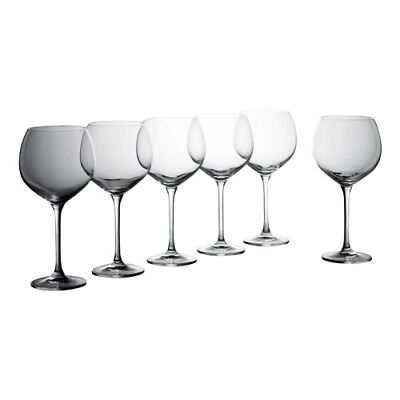 Krosno Vinoteca Gift Boxed Set of 6 x 570ml Burgundy Glasses Brand New