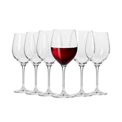Krosno Vinoteca Gift Boxed Set of 6 x 450ml Red Wine Glasses Brand New