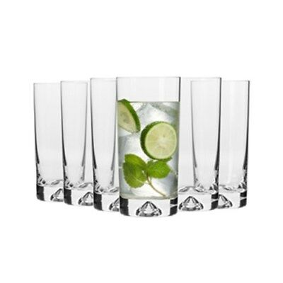 Krosno Triad Set of 6 x Hi-Ball Glasses 300ml Brand New