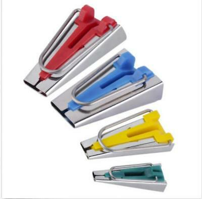 New 4PC Fabric Bias Tape Maker 6MM 12MM 18MM 25MM Binding Tool Sewing Quilting
