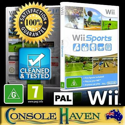 (Wii Game) Wii Sports (G) (Baseball, Bowling, Golf, Tennis & Boxing) PAL