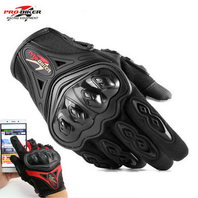 Pro-Biker Motorcycle Motorbike Atv Riding Armored Gloves Full Finger M/l/xl