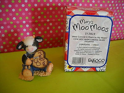 Mary's Moo Moos Moo Carved A Place In My Heart Sty#212822 61Mm015 W/box