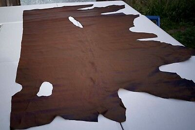 Two tone Brown aniline pull up cowhide leather side 210 x 100 cm