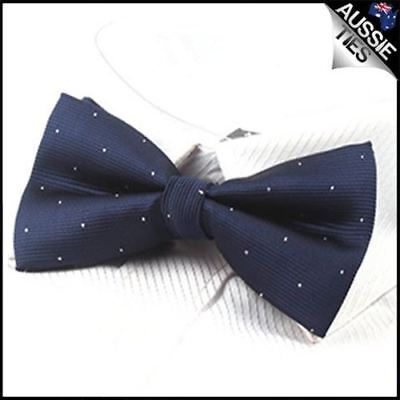 d1b33c760c82 MEN'S BOWTIE YELLOW with Midnight Blue Polka Dots Self-tied Formal ...