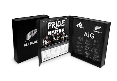 New Zealand All Blacks Signed Jersey/Guernsey 2017 Boxed Officially licensed