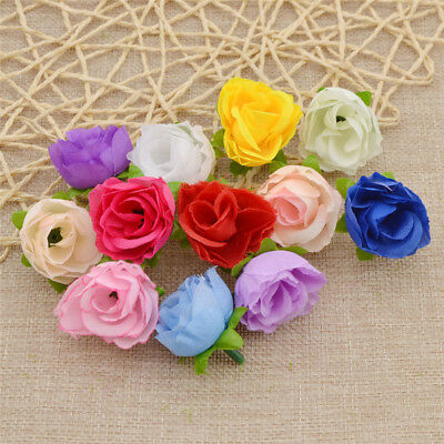 Lot of 50 Artificial Flower Decorative Fake Rose for Wholesale DIY Wedding Decor
