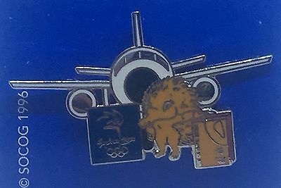 Sydney 2000 Olympic Games Badge Pin - Mascot Millie with Plane