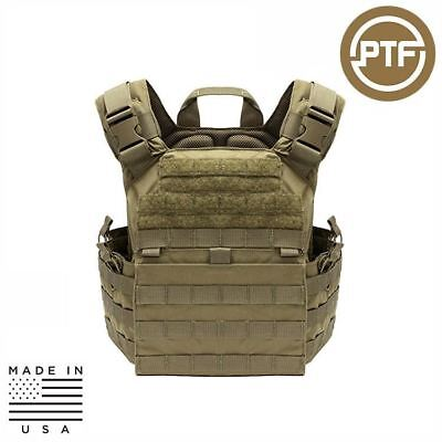 PTF Force Defender Series Tactical Rifle Plate Carrier - Elite Pro