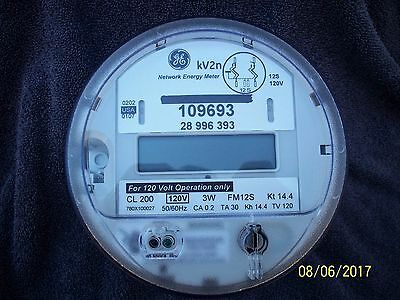 GE Solid State Meter kv2n, 200 amp 120 volts Good Working Condition