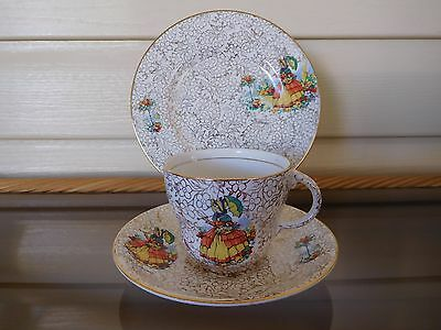 "Barratts ""Nell Gwynne"" Crinoline Lady Trio Made In England 1940s"