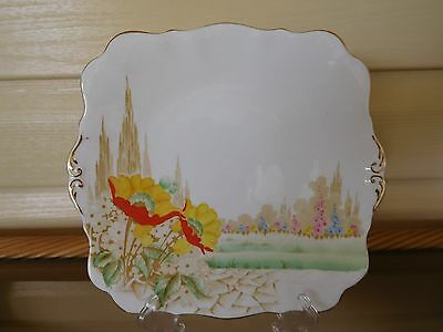 "Royal Standard ""Kensington Gardens"" Cake Plate Made In England"