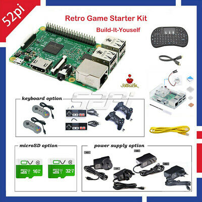 Raspberry Pi 3 Model B Retropie Retro Game Build-It-Yourself (BIY) Starter Kit