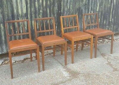G Plan E Gomme dining x4 chairs oak 50s retro vintage mid century