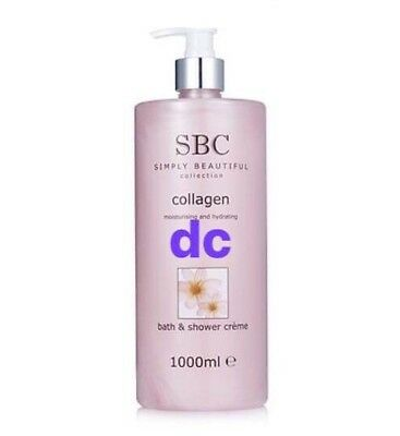 SBC Collagen Bath And Shower Creme 🌟Supersize: 1000ml With Pump🌟BN Stock