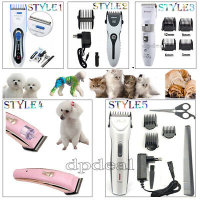 5 Style Professional Grooming Kit Pet Hair Trimmer Cat Dog Clipper Shaver Set EU