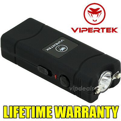 VIPERTEK VTS-881 15 BV Rechargeable Micro Mini Stun Gun LED Flashlight - Black