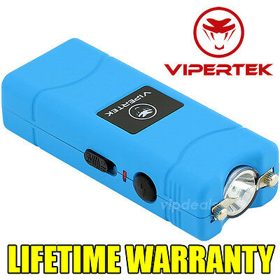 VIPERTEK VTS-881 500 MV Rechargeable Micro Mini Stun Gun LED Flashlight - Blue