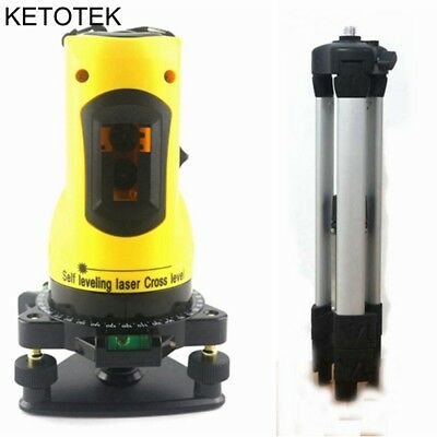 Laser Level 2 Red Cross Lines 360 Degree Rotary Self leveling + Tripod