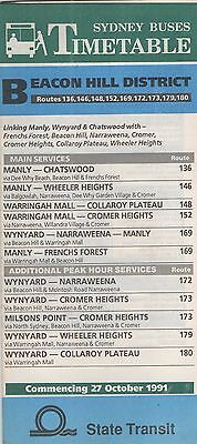Sydney 1981 R169 Manly - Frenchs Forest Bus Timetable 20Pp $5