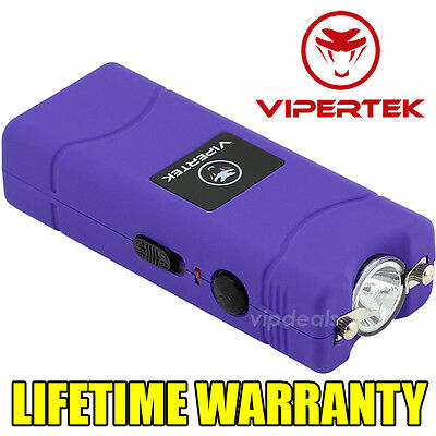 VIPERTEK VTS-881 500 MV Rechargeable Micro Mini Stun Gun LED Flashlight - Purple
