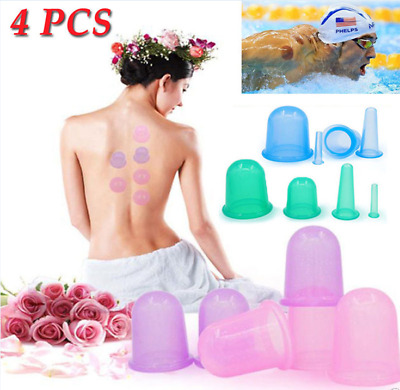 Silicone Medical Vacuum Massager Cupping Cups Set Therapy Anti Cellulite Massage