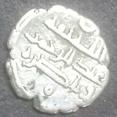 Sindh Sultan And Punjab-Silver-Diraham-Very Small And Rare-Wt:-0.480 Gram.