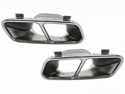 Mercedes W176 Exhaust Muffler Tips 12+ CLA W176 C117 A45 CLA45 Design