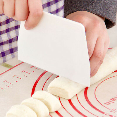 Plastic Cake Bread Pasty Tools Scraper Blade Pastry Dough Cutter Trapezoid Shape