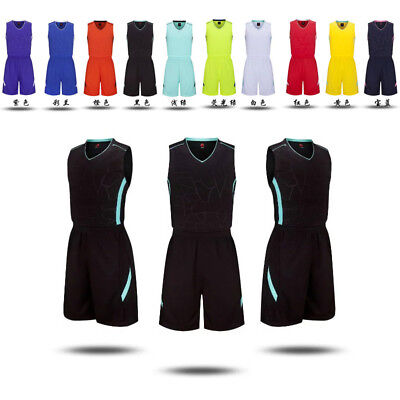 Newly Basketball Clothes Men Women School Training Sportswear Team Uniform 1Set