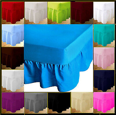Luxury Quality Valence Fitted Sheets Single Double King Superking Frilled Bottom