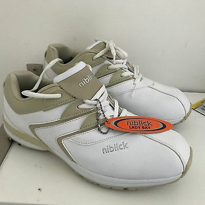 NWT Niblick 'lady bay' golf shoes, removable spikes, AU 9, UK 8