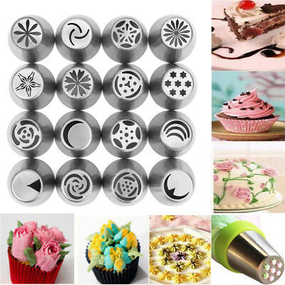 16PCS/SET Russian Flower Piping Tips Cake Decorating Pastry DIY Icing Nozzles